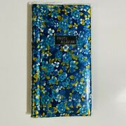 Vintage Photo Album 1970s Empty Fabric Cover Ring Binding Coil Fold Out Floral