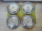 Nos 87 88 Cadillac Hub Caps 14 Set Of 4 Caddy Wheel Covers 1987 1988 Hubcaps