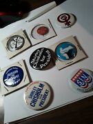 Lot Of 200 Antique And Vintage Usa Campaign Button Most From The 1950's-80.