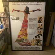 Original French Diana Ross Mahogany Framed And Mounted Movie Poster