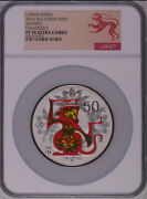 Ngc Pf70 2016 China Lunar Series Monkey 5oz Silver Colorized Coin With Coa