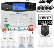 Alarm System Kit Wifi Pstn Gsm For House Wireless Detector+remote Controller New