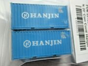 Fox Valley Models Fvm 891004 Hanjin 20' Corrugated Container 2/pack N-scale