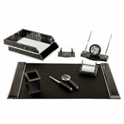 Set Table In Marble Black Marble Items 8 Silver Metal Parts 231192 Stand Offi...