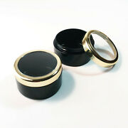 Makeup Jars Plastic Cosmetic Beauty Containers 30 Gram Gold Trim Lid 195 3832