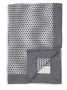 Frette Modus Plaid Throw Blanket - Gray/medium Gray - New With Tags - Cashmere