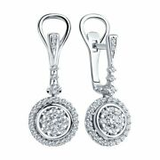 New Sokolov Earrings In 585 White Gold With Rhodium Plating With Diamonds