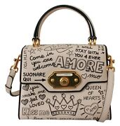 Dolce And Gabbana Bag Welcome Purse Beige Leather Dg Crown Crossbody Rrp 4000