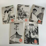 Vintage Boy Scout Merit Badge Book   Painting, Cycling, Weather, First Aid, Read