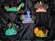 Main Street Disney Electrical Parade Light Up Mickey Mouse Ear Hat Ornament Set