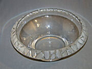 Studio Art Crystal Glass Bowl Heavy Signed 11 Wide
