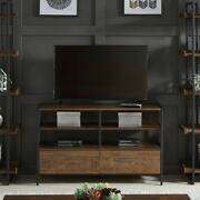Tv Stand Table And Entertainment Media Center Modern Brown 49 In. Unit W/ Drawers