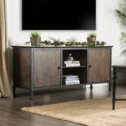 Tv Stand Table And Entertainment Media Center Casual Oak Unit Console W/ Cabinets