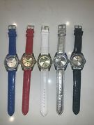 Gift Set Manhattan By Croton Set Of 5 Crystal Bezel Womens Watches Hsn 79.95