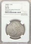 1808/7 50 Ct Capped Bust Silver Half Dollar Ngc Au 55