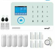 Wireless Security Alarm Panel For Homes With Accessories Wifi+gsm Bright Systems