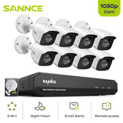 Sannce 8ch 5in1 Dvr 1080p Home Security Camera System In/outdoor Night Video 1tb