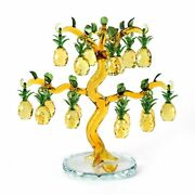 Crystal Pineapple Tree Lucky Feng Shui Decoration Ornaments Figurines Home Decor