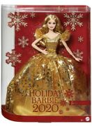 2020 Holiday Signature Barbie Doll Long Blonde Hair Mattel New In Box