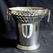 ° Wmf 1900 Secessionist Arts And Crafts Champagne Cooler Ice Bucket Art Nouveau