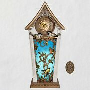 2020 Hallmark The Beauty Of Birds Musical Clock With Motion And Light New In Box