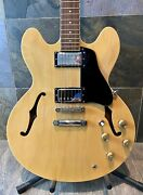 """Collectible 2004 Epiphone Elitist """"1963"""" 335 Dot Natural Nude Blonde Ohsc 436"""