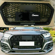 Front Upper Honeycomb Radiator Grill For Audi Q5 2018-2021 Rsq5 Style Grille