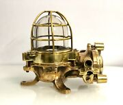 Old Antique Ship Brass Daeyang Nautical Bulkhead Ceiling And Wall Light Lot Of 5