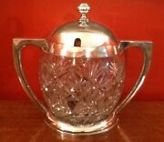 Vety Large German Silver And Crystal Punch Bowl C1890