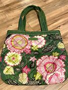 Vera Bradley Olivia Pink Perfectly Puffy Reversable Tote Nwot