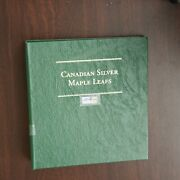 27 Canadian Silver Maple Leafs In Collection Book 1988-2006 1 Oz. .999 Bullion