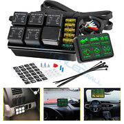 6 Gang Switch Panel Universal Circuit Control Box Button Switch Pod Touch Switch