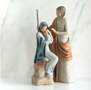 The Holy Family Figure Sculpture Hand Painted Willow Tree Signed By Susan Lordi
