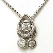 Platinum 900 850 Necklace Diamond Si1 0.30 0.07 About14.1g Free Shipping Used
