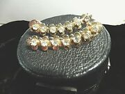 Vintage/classic Costume Jewlry - 7 Rhinestone Hair Clips - 2 - On Gold Colored
