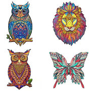 20 Sets Wooden Animal Jigsaw Puzzles Mysterious Owl 3d Educational Puzzle Gift