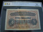 East Africa 1939 5 Shillings Banknote Pick 26ab Pcgs Graded Au55