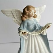 Lladro Angel Tree Topper 5719 Angel Navidad Cantante 1990 Limited Ed Excellent