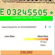 2013 1 Extremely Rare Star Note With Only 250000 Run