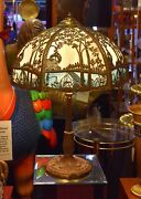 Antique Miller Slag Glass Lamp Ml Co 234 Circa 1915 Absolutely Beautiful