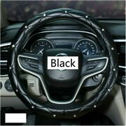 Car Steeing Wheel Cover Pu Leather Faux Diamond Auto Accessories Universal