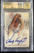 2001 Topps Golden Sandy Koufax Autograph Bgs 9.5 Gem Only 5 - White Whale Auto