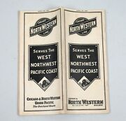 Vintage Railroad Timetable 1937 Chicago North Western Line Union Pacific
