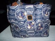 Disney Dooney And Bourke 2017 Epcot Food And Wine Logo Large Tote