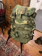 Us Military Woodlands Camo Backpack System W/ Frame And Hip Pad Quick Release Bu