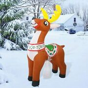 6 Ft Christmas Inflatable Led Reindeer Lighted Blow Up Outdoor Yard Decoration
