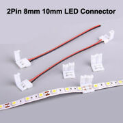2pin Solderless Connector Adapter To 5050 5630 2835 Single Color Led Strip Light