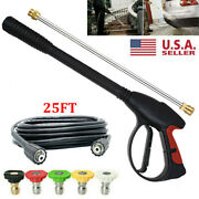 High Pressure Car Power Washer Spray Gun Wand Lance Nozzle Tips With Hose Kit