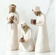 The Tree Wisemen Sculpted Hand Painted Nativity Figures 3-pcs Set Willow Tree