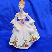 🌟 Lady Figurine Royal Doulton Country Rose 1988 Old Country Roses Design
